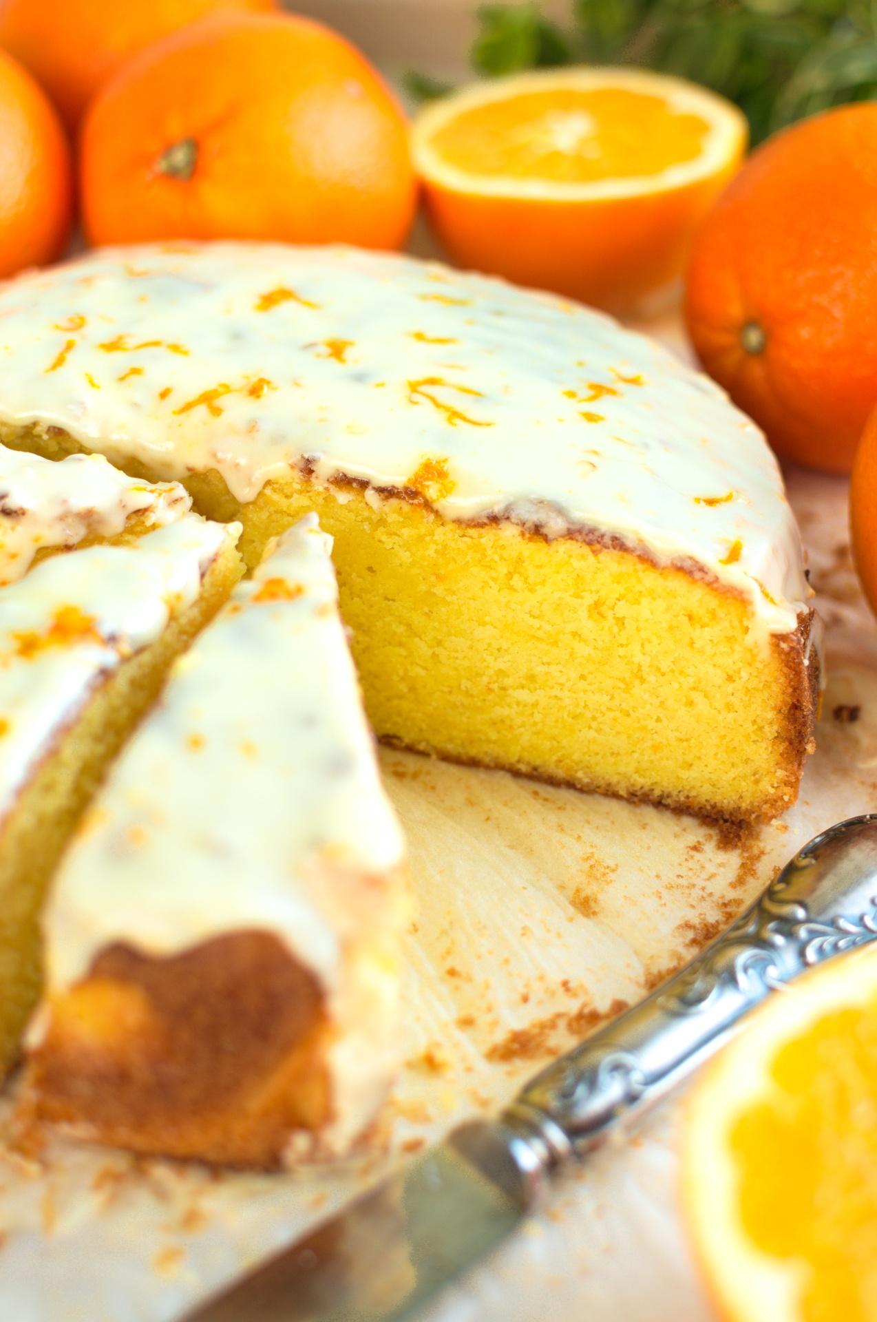 Ucierane ciasto pomarańczowe