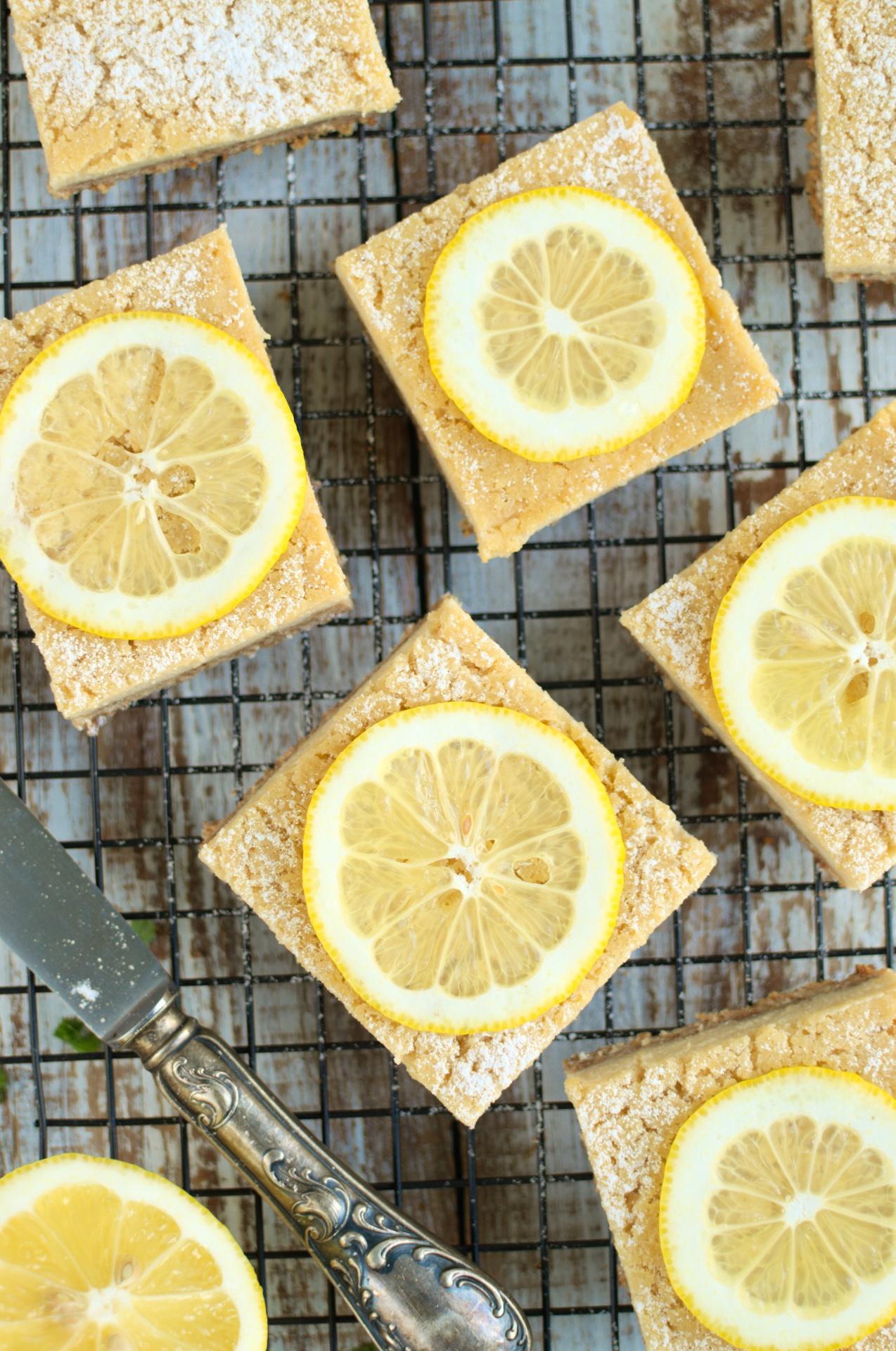 Cytrynowe kostki (vegan lemon bars)