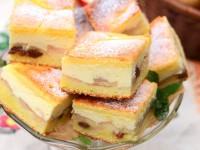 Ciasto serowo-cytrynowe z jabłkami