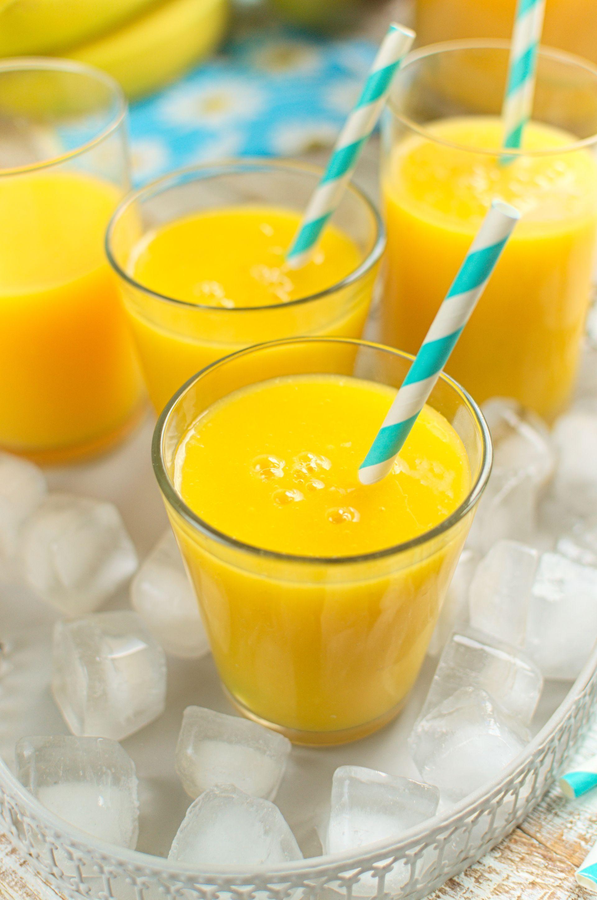 Koktajl pomarańczowy z mango i bananem