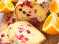 Ciasto pomarańczowe z żurawiną
