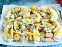 Sałatka z młodych ziemniaków ze szparagami