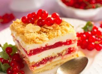 Wyśmienite ciasto z czerwoną porzeczką