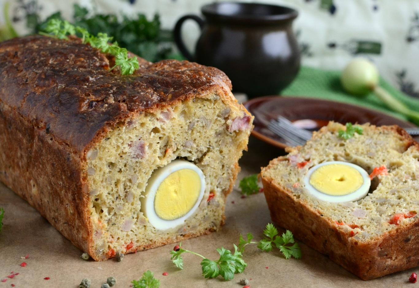 Wykwintny placek z jajkiem