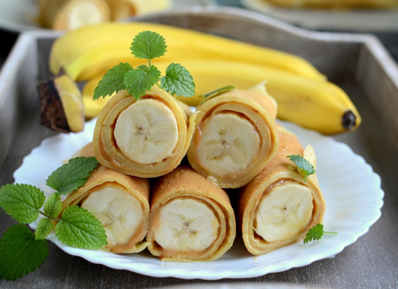 Naleśniki z kajmakiem i bananami a'la banoffee