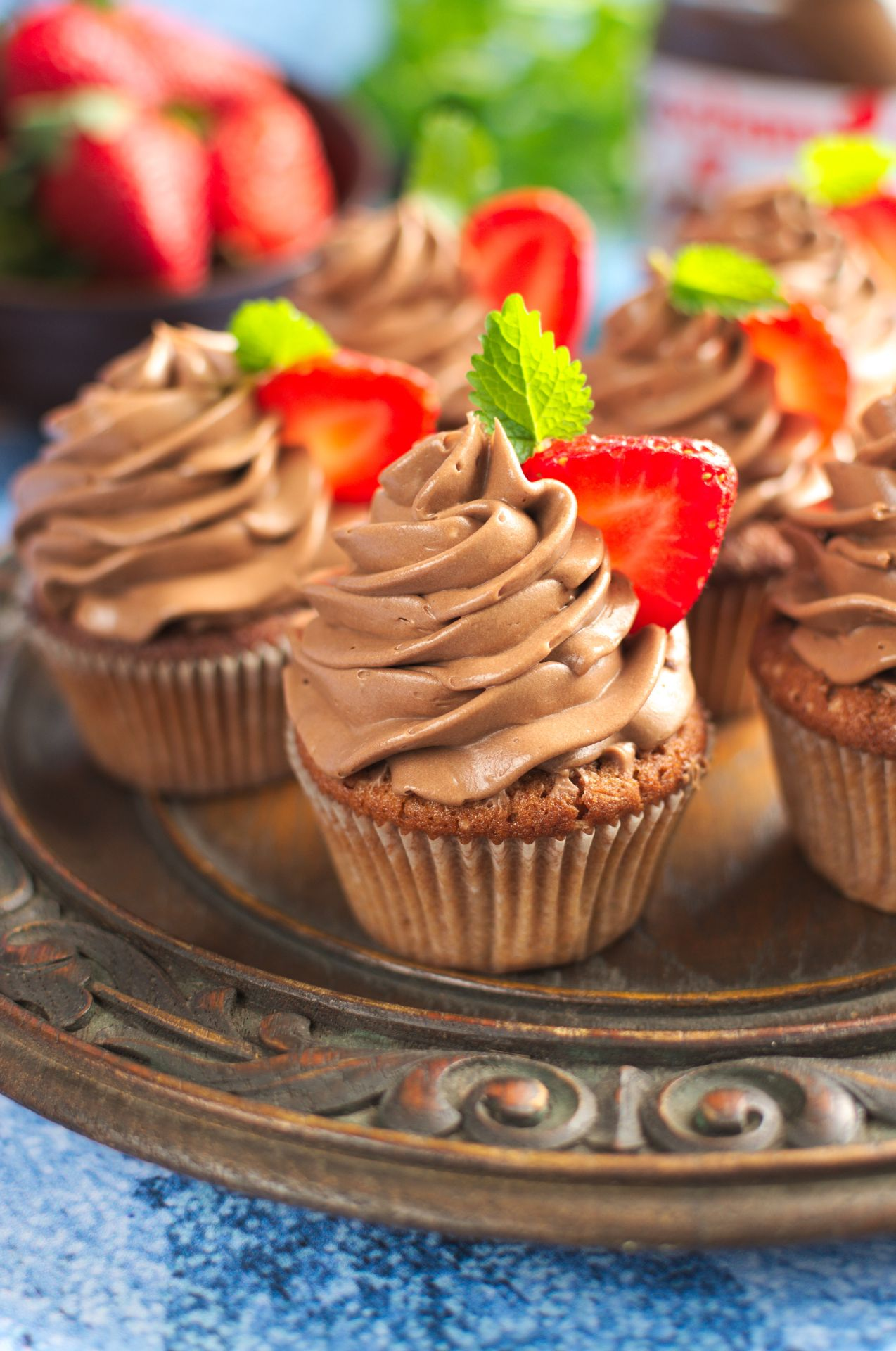 Babeczki z nutellą (nutella cupcakes)