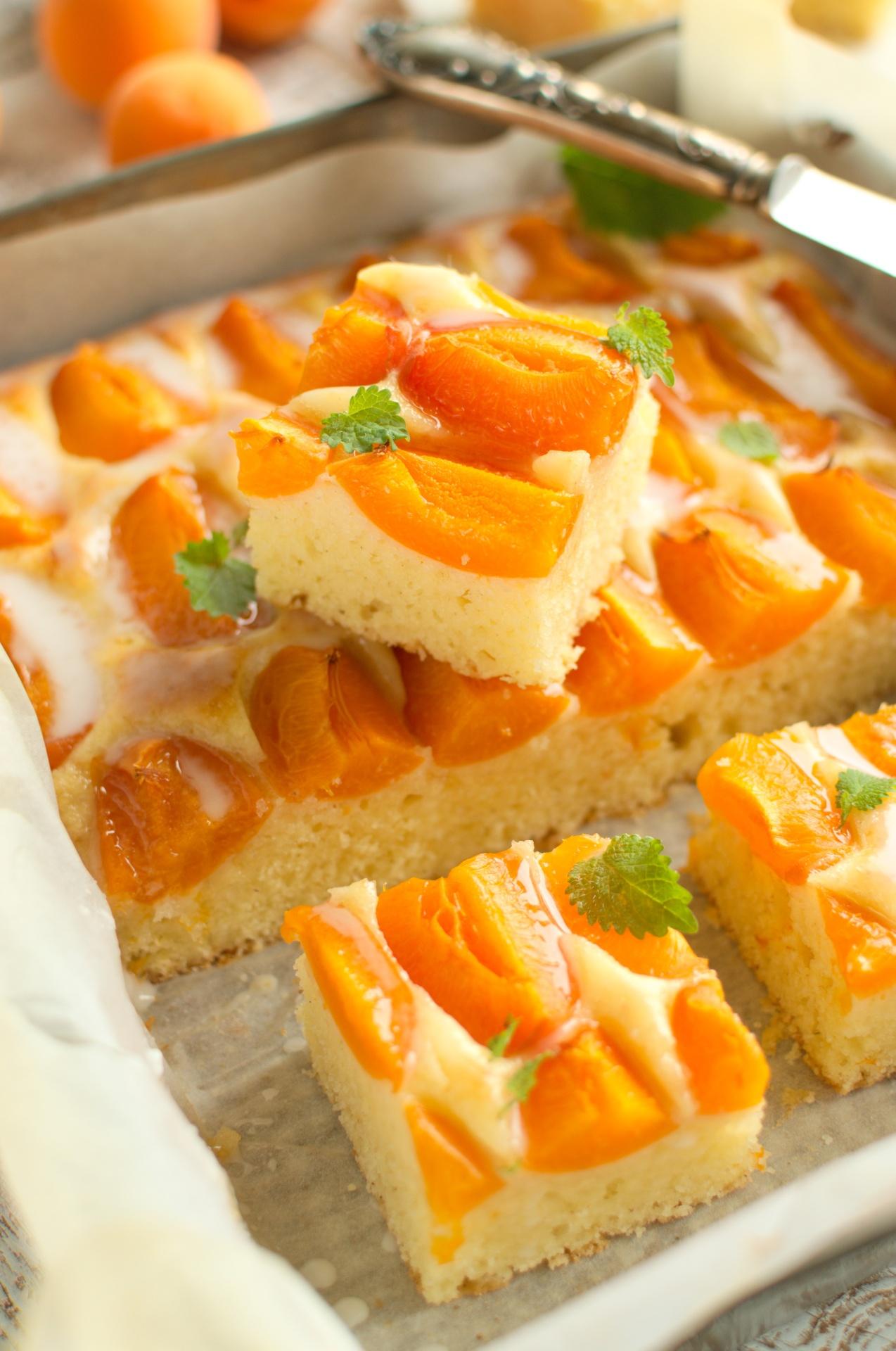 Ciasto kaszkowe z morelami