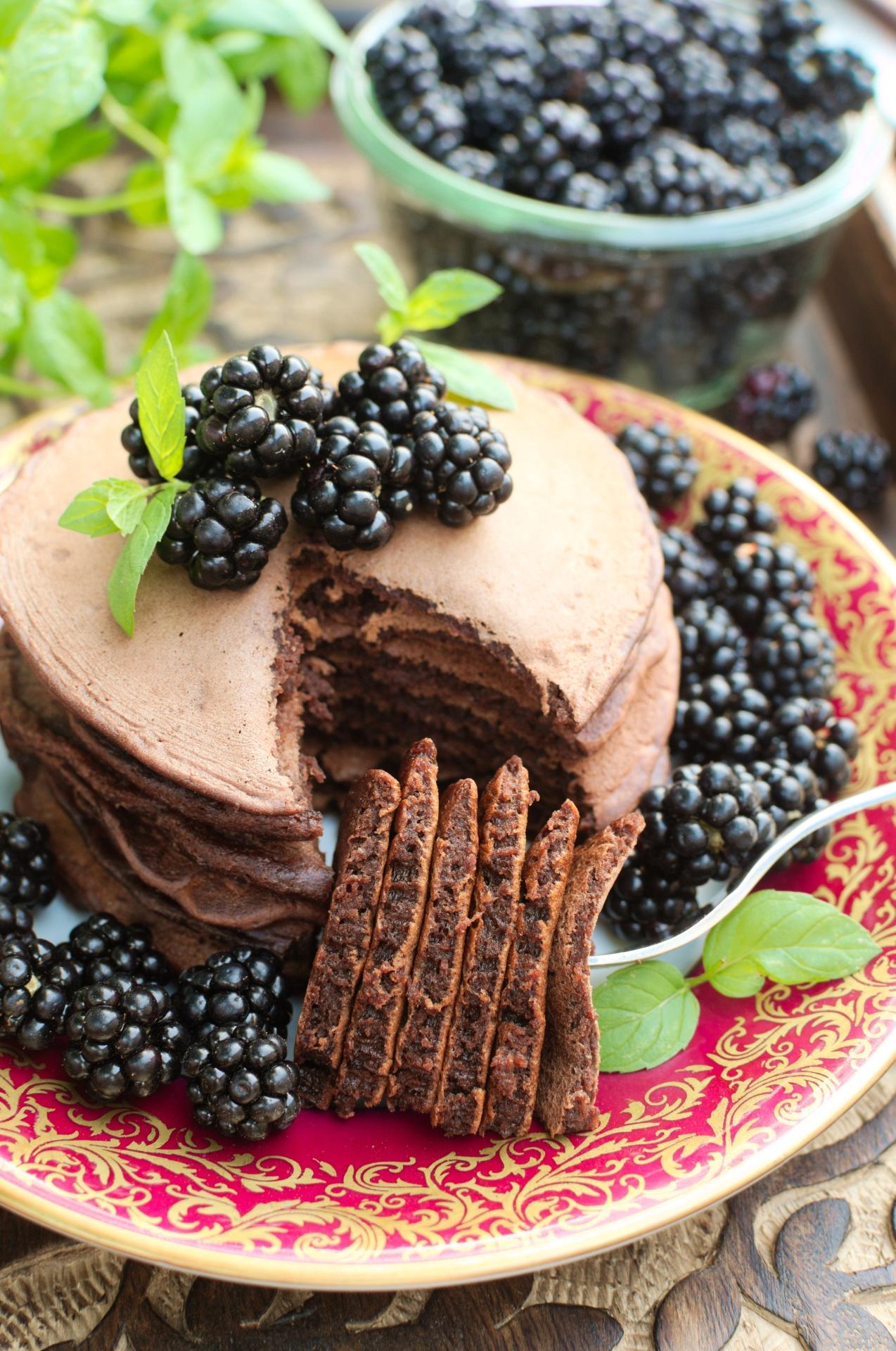 Czekoladowe placuszki (chocolate pancakes)