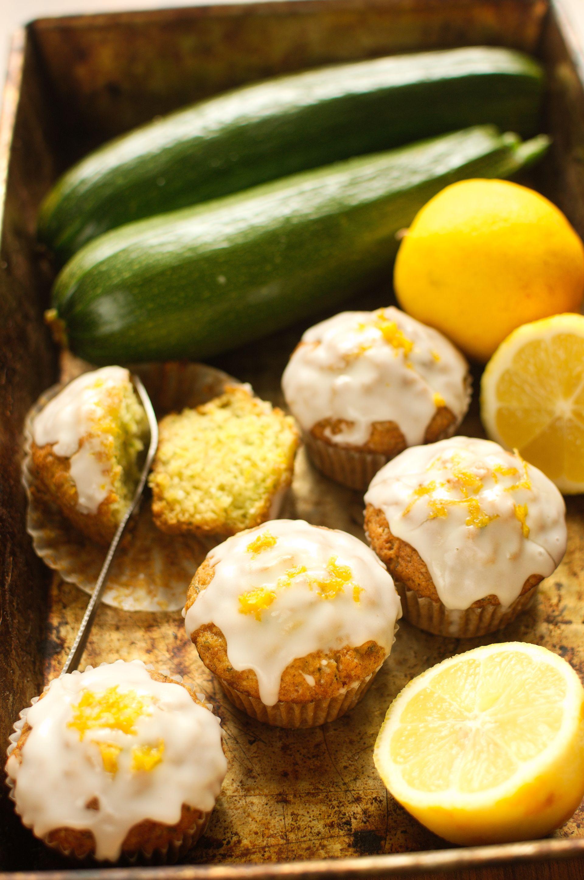 Cytrynowe muffinki cukiniowe