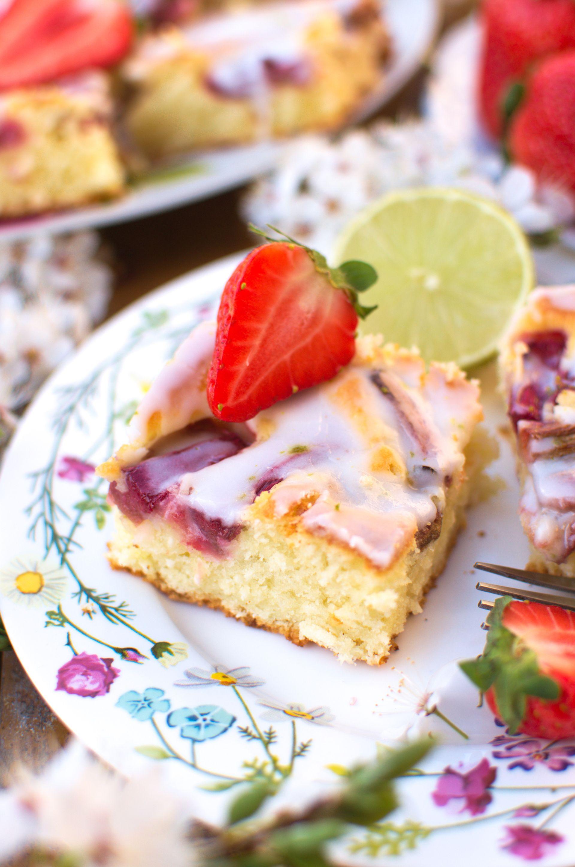 Kokosowe ciasto z rabarbarem