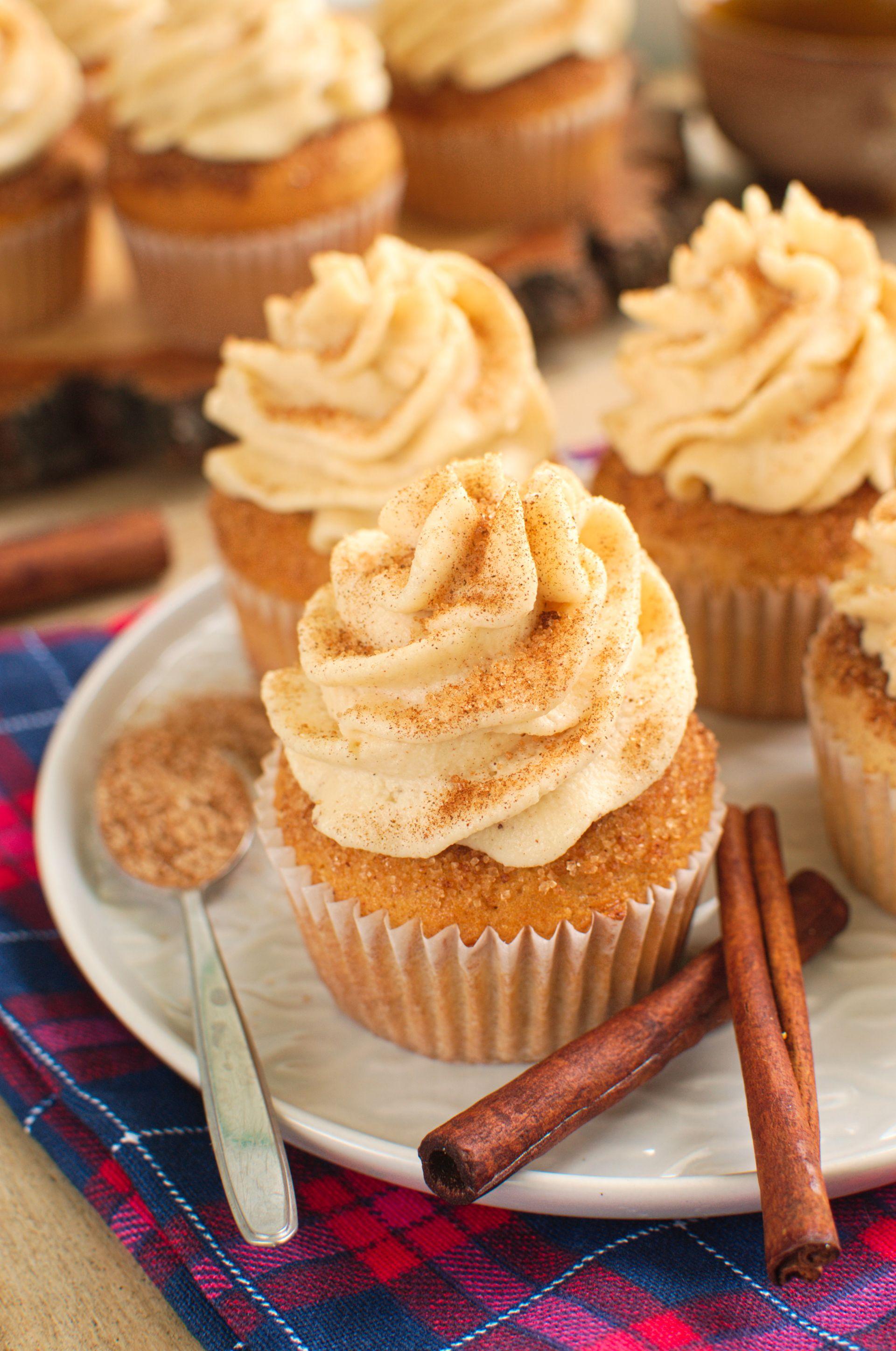 Babeczki cynamonowe (Snickerdoodle cupcakes)