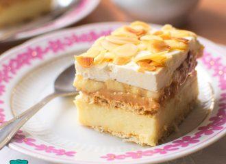 Ciasto krówka bananowa na krakersach