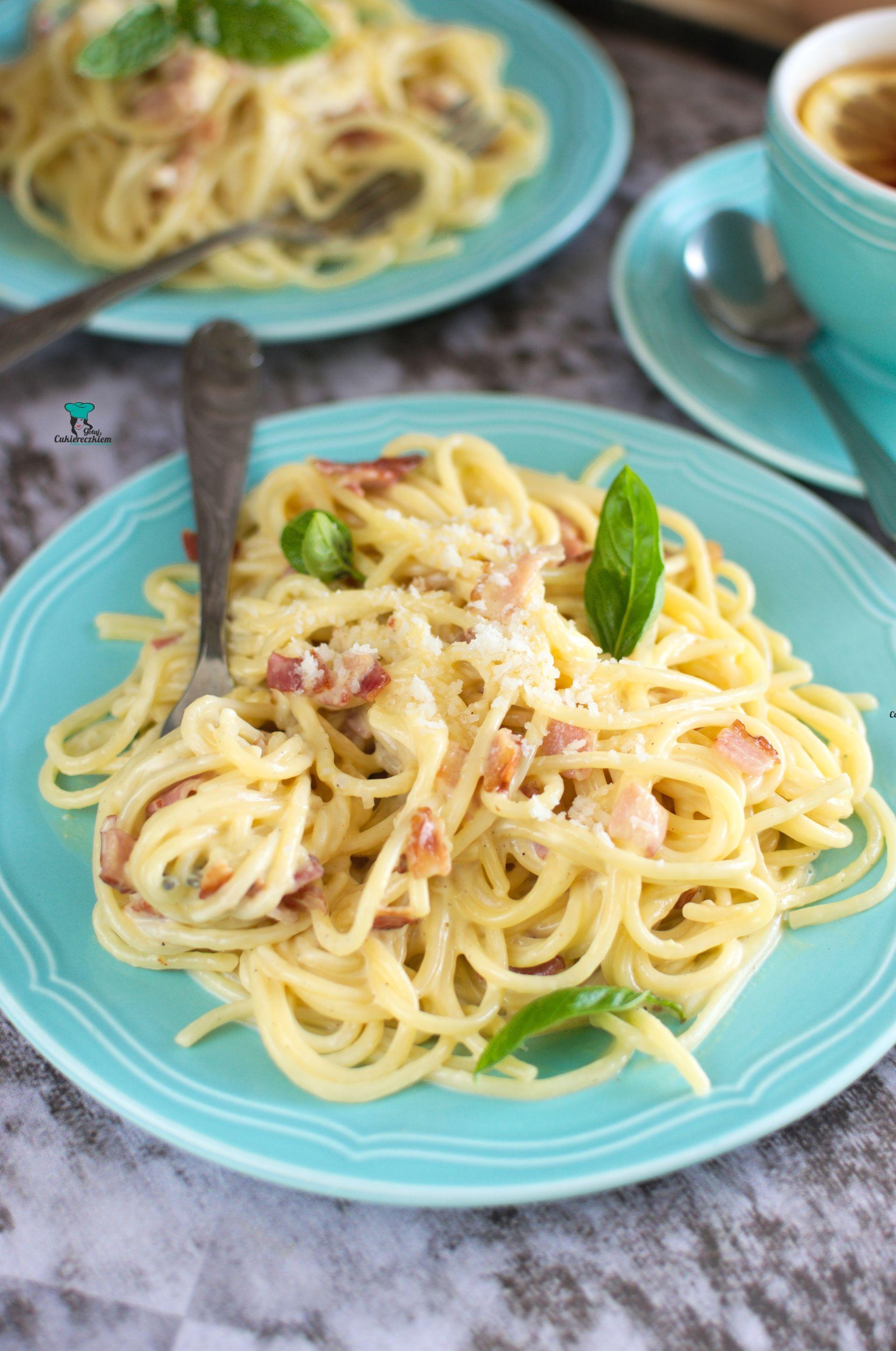 Spaghetti alla carbonara z mascarpone