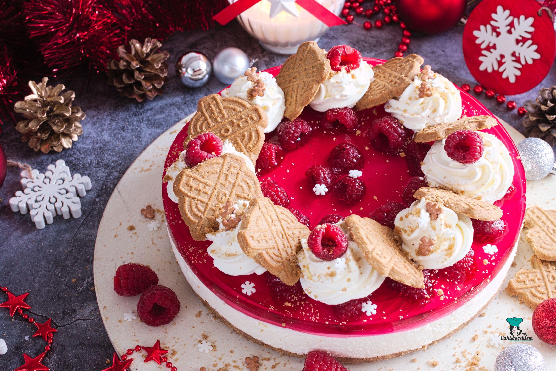 Świąteczny serniczek z malinami