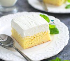 Tres leches (meksykańskie ciasto mleczne)