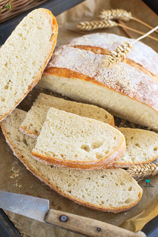 Prosty chleb pszenny (bez wyrabiania)