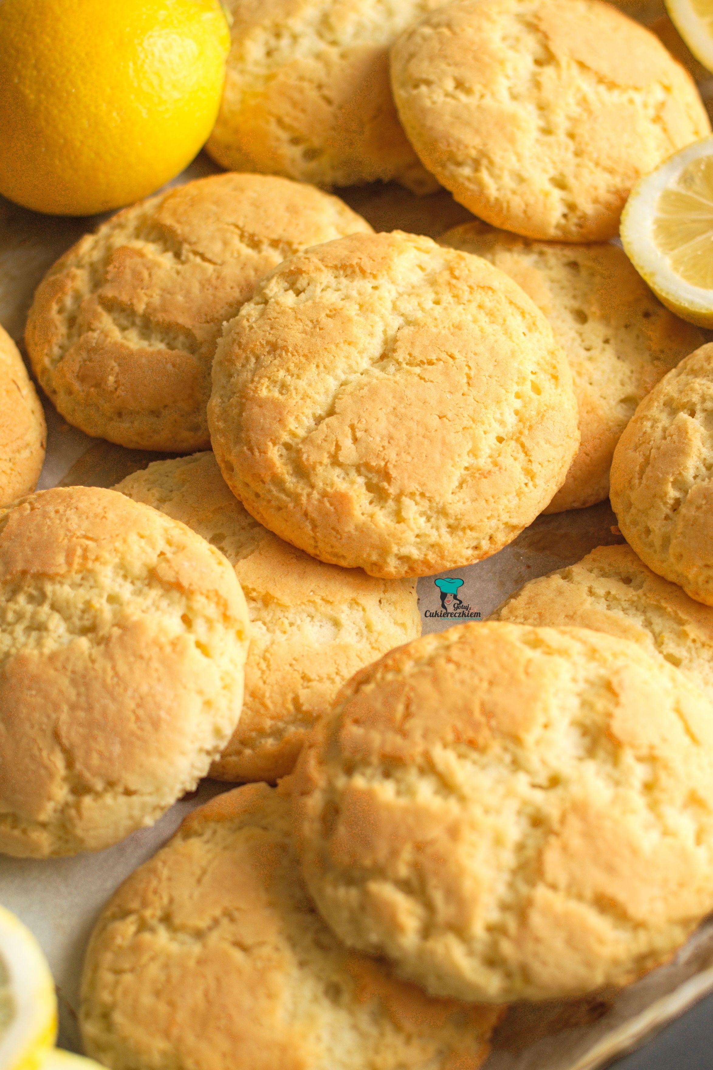 Puszyste ciasteczka cytrynowe