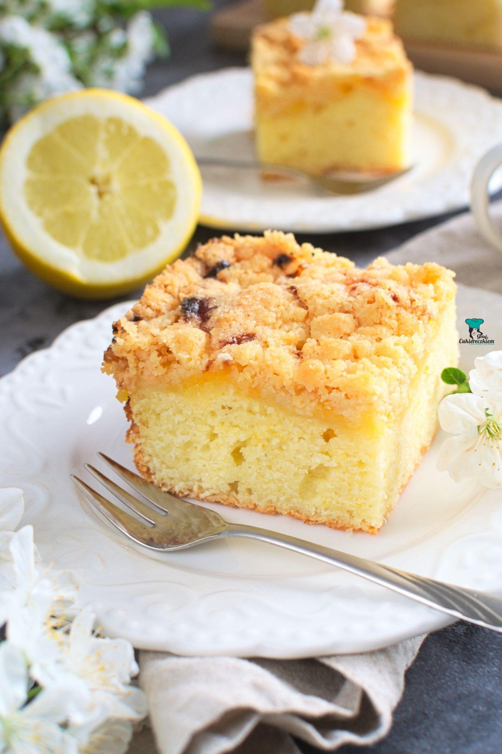 Ciasto podwójnie cytrynowe z kruszonką