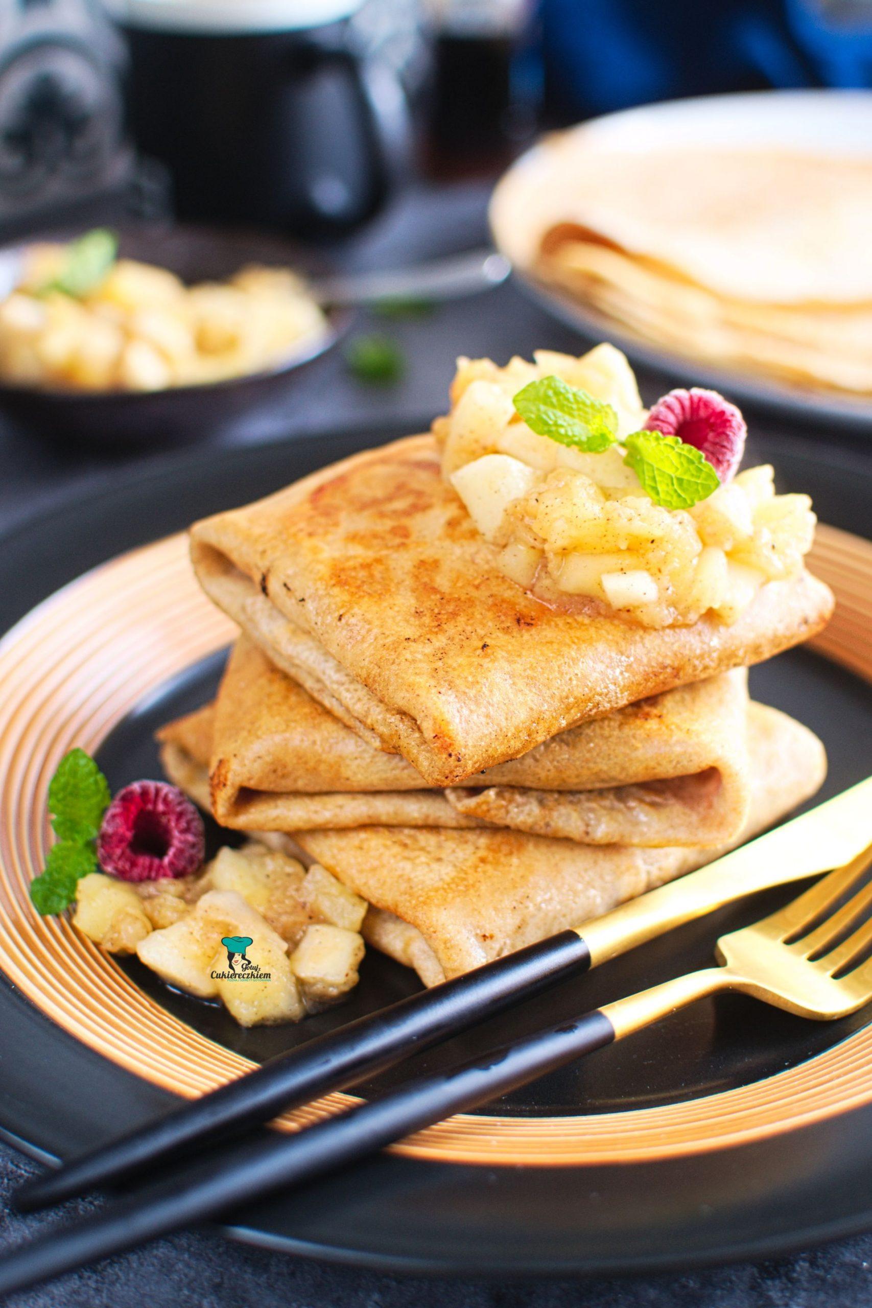 Naleśniki pełnoziarniste z serem