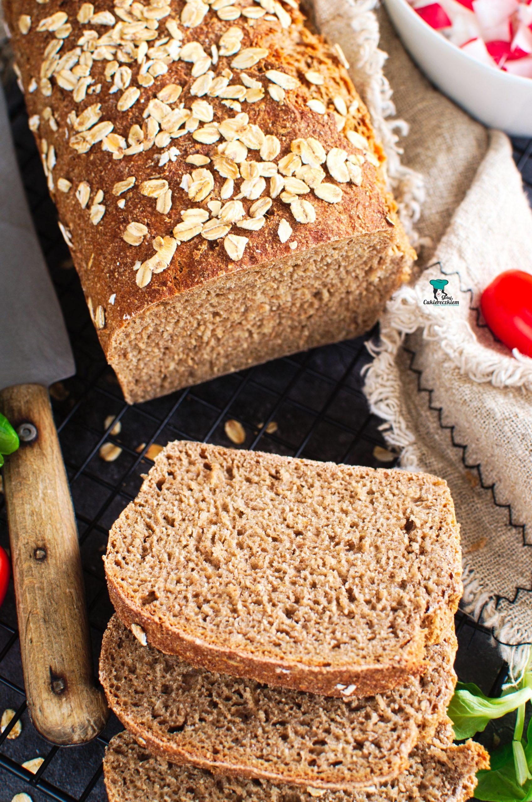 Prosty chleb pełnoziarnisty (bez wyrabiania)