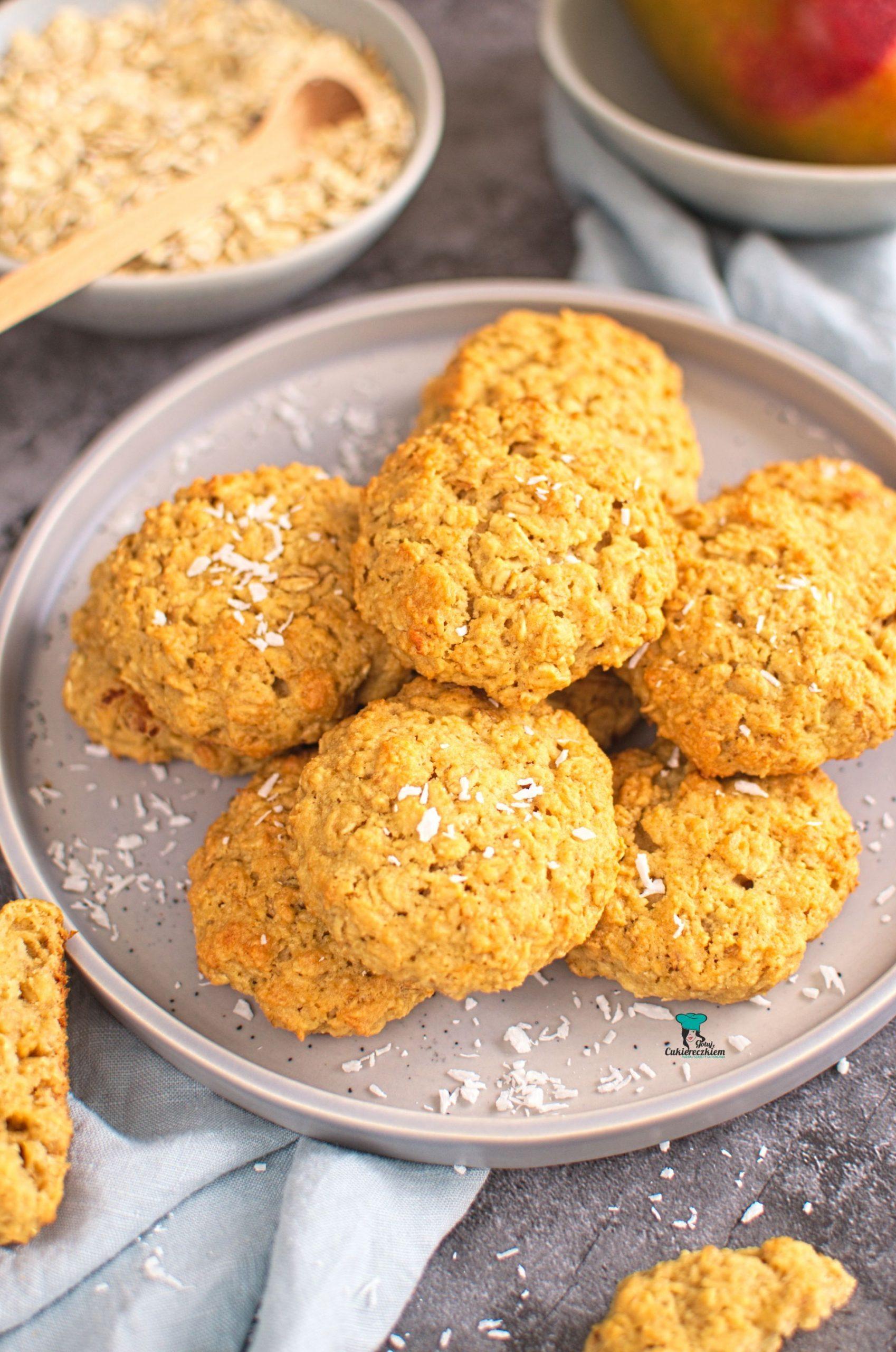 Ciasteczka owsiane z mango