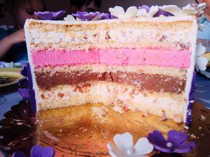 Tort porzeczka-czekolada-śmietanka